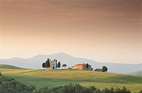 Church near Pienza. Tuscany, Italy
