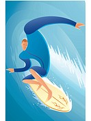 Illustration of a surfer (thumbnail)