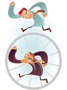 Man running on a wheel (thumbnail)
