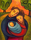 An illustration of a family embracing (thumbnail)