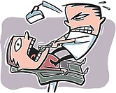 A dentist pulling out a tooth (thumbnail)