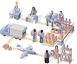 A detail picture showing the precesses in a manufacturing company (thumbnail)