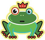 An image of frog prince with a crown