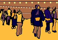 A crowd scene and a cold day in the city (thumbnail)