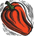 fresh red bell pepper
