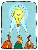 Business people having a bright idea (thumbnail)