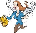 An office angel delivering a box of donuts (thumbnail)
