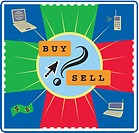 The buying and selling activities via the information technology