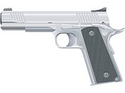 An illustration of a semi automatic pistol M1911