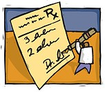 Doctor writing a prescription (thumbnail)