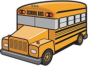 An illustration of a yellow school bus