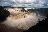 Iguazu Waterfalls, Iguaz&#250; National Park. Argentina-Brazil border