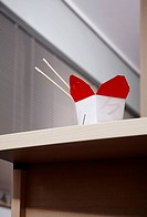 Chinese food box on office desk