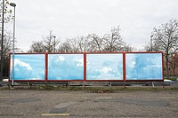 Blue sky on a billboard
