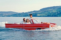 Demonstration of a amphibian vehicle (Amphicar)