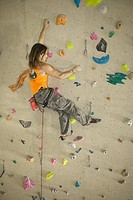 man in climbing hall