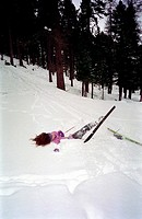 Skier after falling