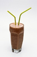 Milkshake with two straws