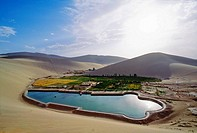 Oasis, Dunhuang, Gansu, China