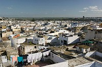 Morocco, Sale, city view, city, city, houses, residences, architecture, roofs, flat-roofs, roof-terraces, laundry, clothes line,