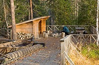 Forest, alm, hearth, tourist, boat, nature,