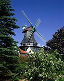 Germany, Schleswig-Holstein, Schlei, Rieseby-Norby, mill Anna, Northern Germany, sight, buildings, architecture, windmill, Rieseby, Norby, home-museum...