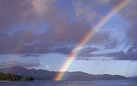 Rainbow in the sky, Marovo Lagoon, Solomon Islands