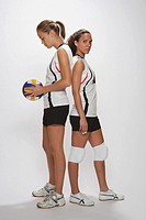Volleyball Players Posing