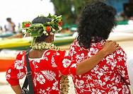 French Polynesia, Older local women friends