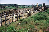 Ruins of the ancient city of Pergamon. Bergama, Turkey