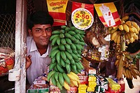 Shopkeeper, Kerala backwaters. India