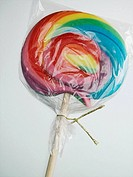 Wrapped colorful lollipop