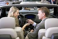 Couple buying car