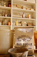 Store items in the Bodie store, CA, USA