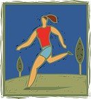 Illulstration of a woman jogging