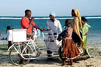 icecream hawker, Coco beach, Dar Es Salaam, Tanzania.
