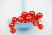 Redcurrants on spoon