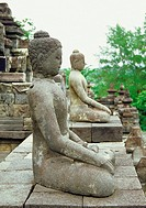 Side profile of the Statues of Buddha, Hong Kong, China