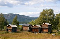 Settlement, Lapska, Bodar, at, Black, Alven, Black, Älven, Lapland, Sweden,