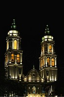 Cathedral, Nuestra, Senora, de, la, Concepcion, at, night, Campeche, province, of, Campeche, Yucatan, peninsula, Mexico,