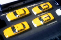TAXI CABS 5TH AVENUE. MIDTOWN MANHATTAN. NEW YORK. USA