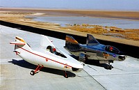 After the M2_F1 on the viewer´s left proved the lifting_body concept, NASA and the Air Force began work on a series of heavyweight, rocket_powered lif...