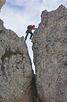rock climber, grigna meridionale, italy