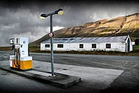 Gas station. North Iceland