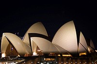 Sydney Opera House at night. New South Wales, Australia