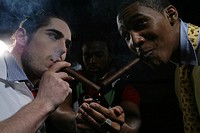 Three young men smoking