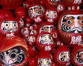 Dharma, Red, DARUMA, Katusoji Temple, Mino, Osaka, Japan