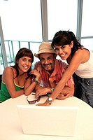 Portrait of a man with two women (thumbnail)
