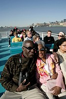 Passengers on board a boat
