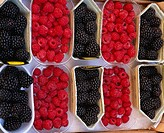 Market Raspberry Blackberry Parma Italy Italian Food